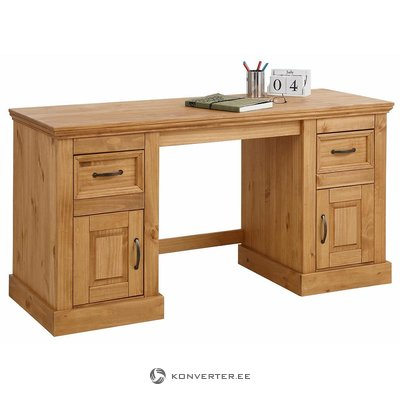 Brown solid wood desk (selam)