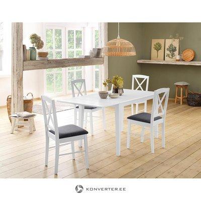 Masīvkoka balts pusdienu galds (fullerton)