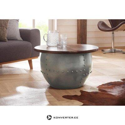 Круглый коричнево-серый дизайн