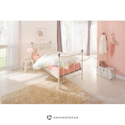 Narrow Metal White Bed 90x200