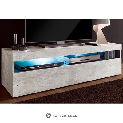 Gray TV cabinet (width 130cm) (with defects in the box)