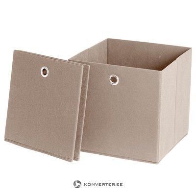 Beige storage box
