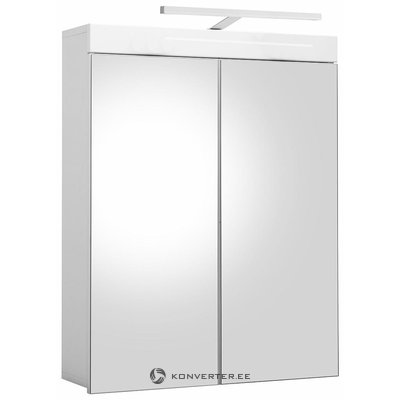 Wall cabinet with 2 mirrored doors and led light (amanda) (hall sample, small beauty bug)