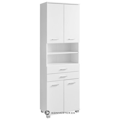 White High Cupboard 2 with Drawer