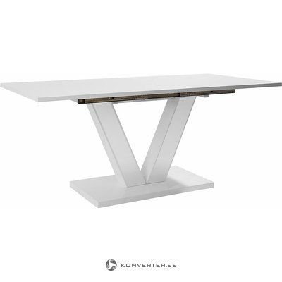 White high gloss expandable dining table (180-220cm wide) (with beauty defects)