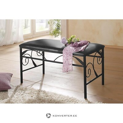 Black soft metal bench (princess) (whole, in box)