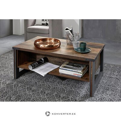 Dark brown coffee table (prime) (in box, whole)