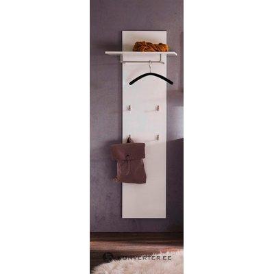 Balta sienos lentyna su stelažais (nala) (grožio defektai, dėžutėje)
