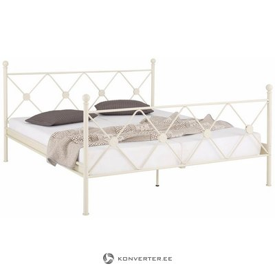 White metal bed (180x200cm) (jenny) (whole, in box)