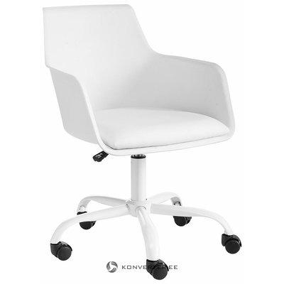 Baltā krēsla biroja krēsls
