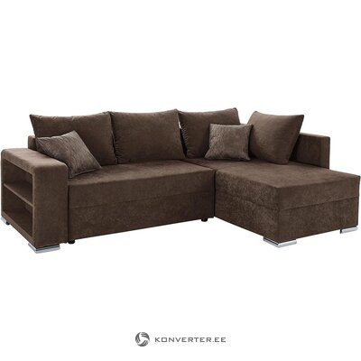 Brown corner sofa bed (whole, in box)