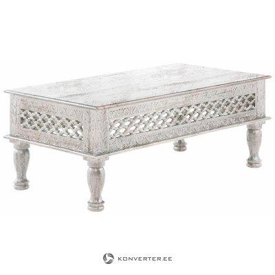 Pelēks masīvkoka dīvānu galds (smagās kļūdas)