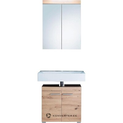 Light brown bathroom mirror cabinet (amanda) (hall sample, with beauty defect)
