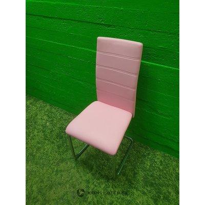 Rozā mīkstais krēsls