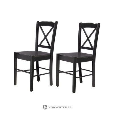 Black Solid Wood Chair (Hall Sample, Whole)