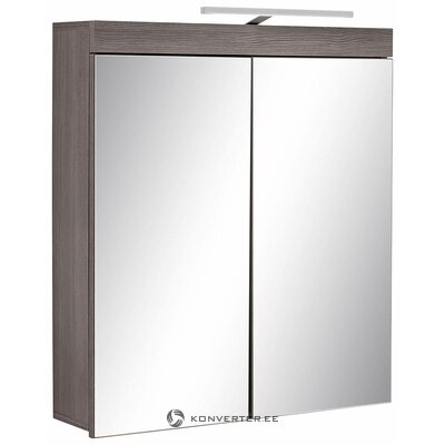 Gray wardrobe with 2 mirror doors (Miami) (with defects in the box)