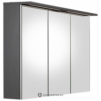 Wide wall cabinet with light and 3 mirror doors (width 120,5cm)