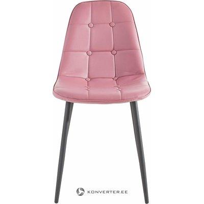 Vaaleanpunainen-musta tuoli