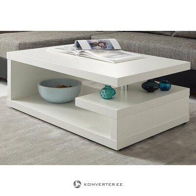 Белый журнальный столик с полками (inosign)