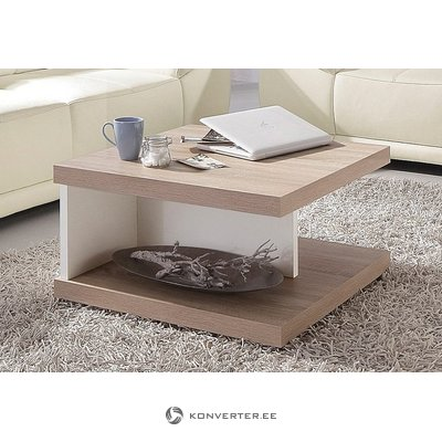 Wheeled sofa table (in box, brown-white, with defects)