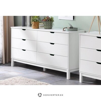 White solid wood chest (post)