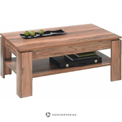Walnut coffee table with shelf (trendteam) (whole, sample hall)