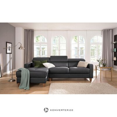 Brown full leather corner sofa (Lucerne) (hall sample, with beauty flaws)