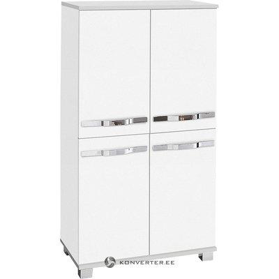 Balts ar krēslu Locker 4 ar durvīm