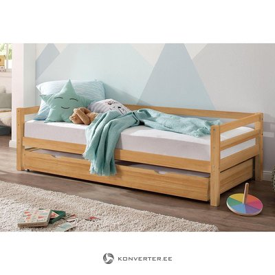 Solid wooden cot with drawer (alpine) (box, whole)