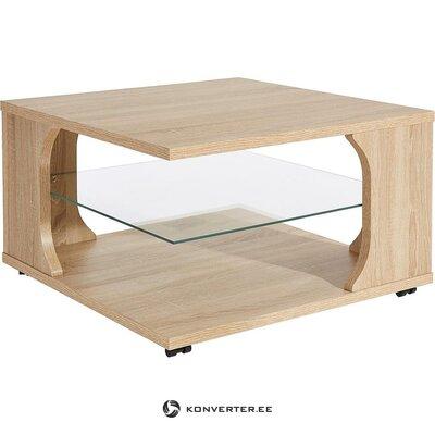 Ruskea sohvapöytä (kauneusvikoilla)