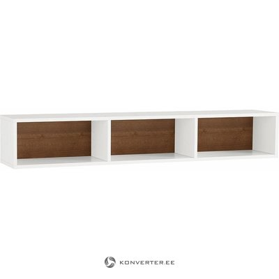 White-brown high gloss wall shelf