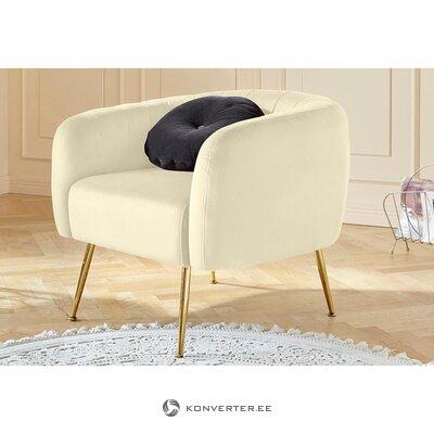 Creamy velvet armchair (found)