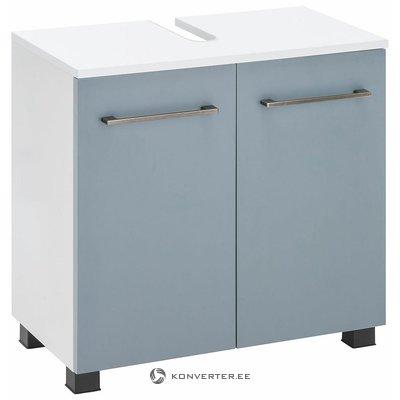 Valkoinen-Sininen pieni keittiön hylly