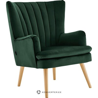 Blue-green velvet armchair (zenia) (minor flaws, hall sample)