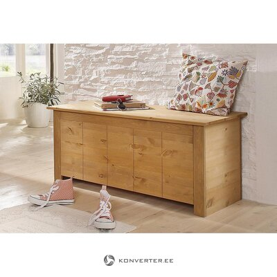 Light brown solid wood chest (bertram)