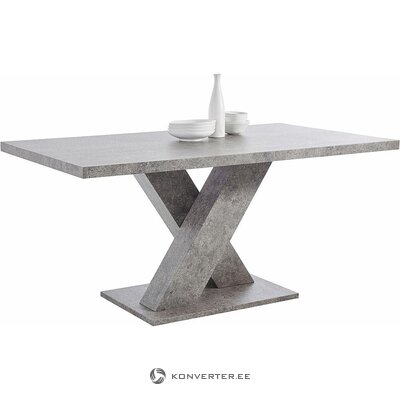 Gray dining table (160x90) (with defects, in a box)