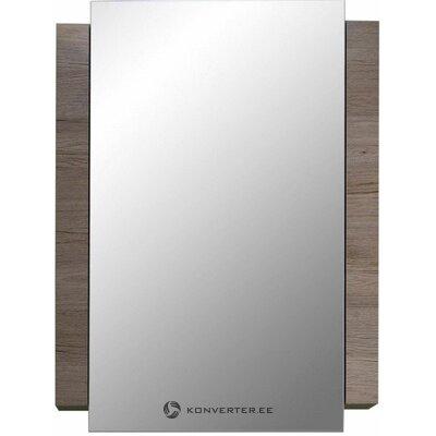 Brown-white bathroom mirror (campus) (box, whole,)