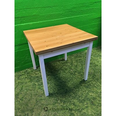 Brown Extendable Brown-White Dining Table