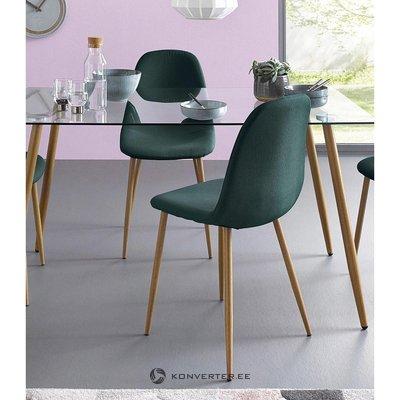 Tamsiai žalia kėdė