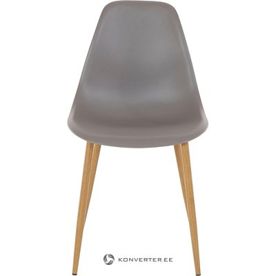 Gray-brown plastic chair