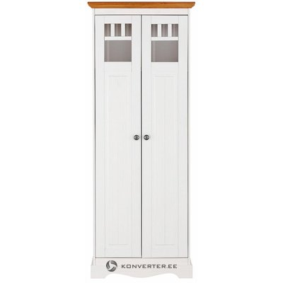 White-brown tall wardrobe (melissa) (copy)