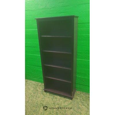Black solid wood bookshelf