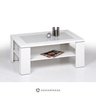 Glass coffee table (inosign) (with beauty defects, in box, white)