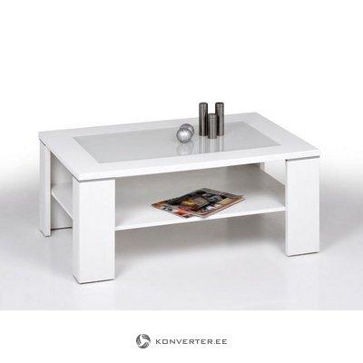 Balta stikla kafijas galdiņš (inosign) (ar skaistuma defektiem)