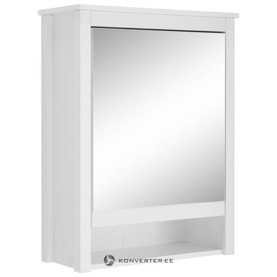 White Bathroom Mirror Cabinet with 1 Door (No) (Hall Sample, Beauty Flaws,)