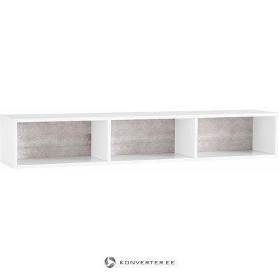 White-gray wall shelf (colore) (with defects in the box)
