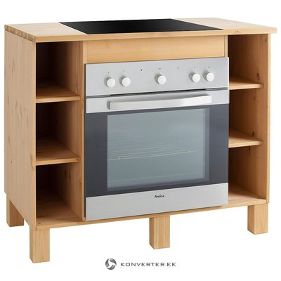 Brown solid wood kitchen cabinet (oslo) (whole, in box)