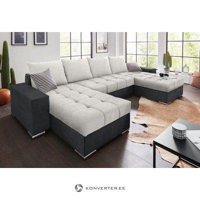Antracito-sidabro sofa-lova (su grožio trūkumais)