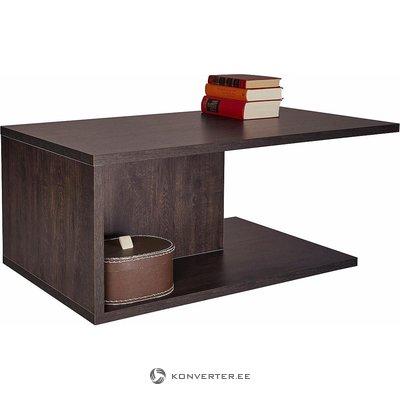 Tumši brūna kafijas galdiņš