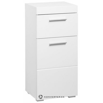 White high gloss cabinet with 1 drawer and 1 door (amanda)